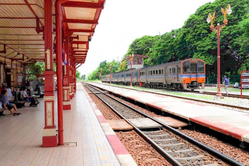 Train Station at Hua - Hin, Bangkok, Thailand - June 25, 2017 stock images