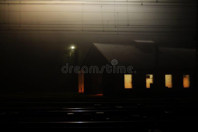 Train station in Kralupy nad Vltavou - Repair hall stock photography