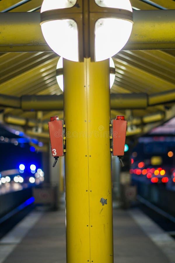 Train Station Lights stock photo