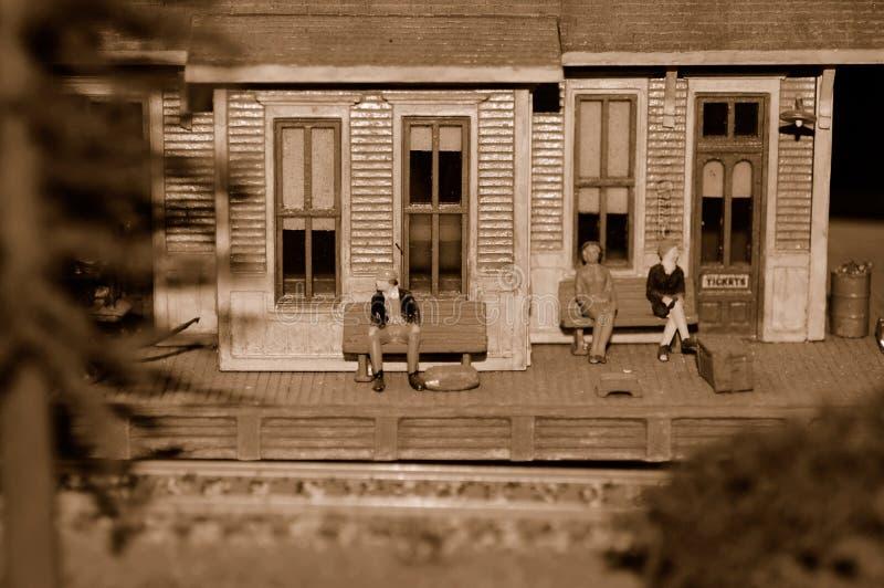 Train Station, Miniature royalty free stock photo