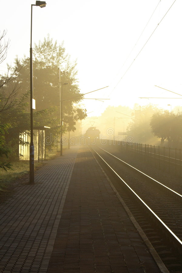 Train Station In The Morning Royalty Free Stock Image