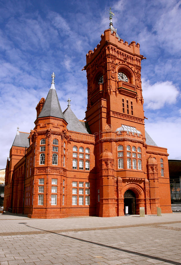 Train station museum in Cardiff (Wales). Historical train station museum in Cardiff bay (Wales). UK royalty free stock photo
