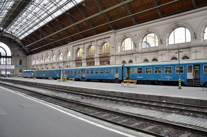 Download Train At Station Platform Budapest, Hungary Editorial Photo - Image: 30608286