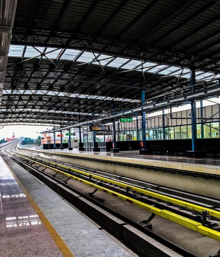 Train station platform stock image