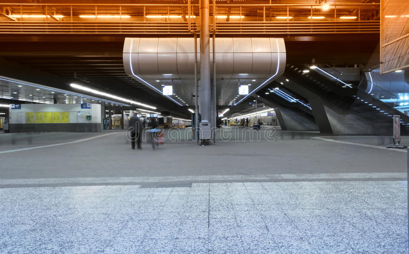 Train station at rush hour royalty free stock photos