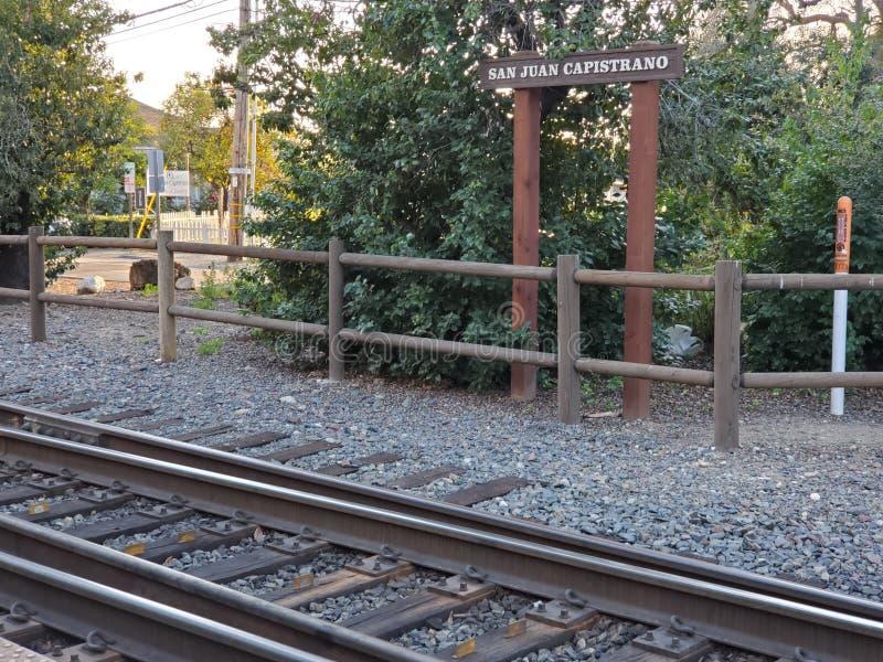 Train station at San Juan Capistrano, California stock photography