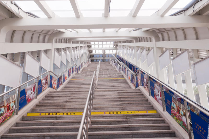 Train station stairs royalty free stock photo