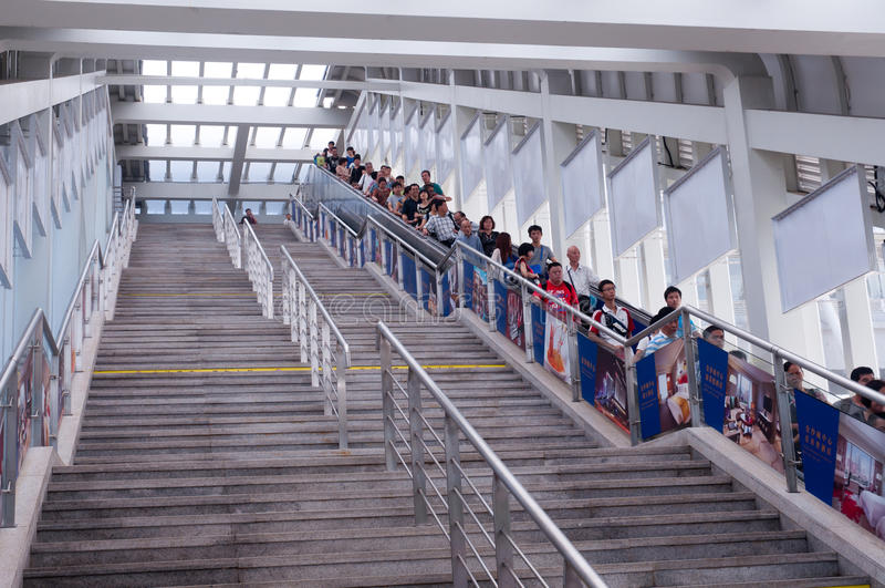 Train station stairs royalty free stock photography