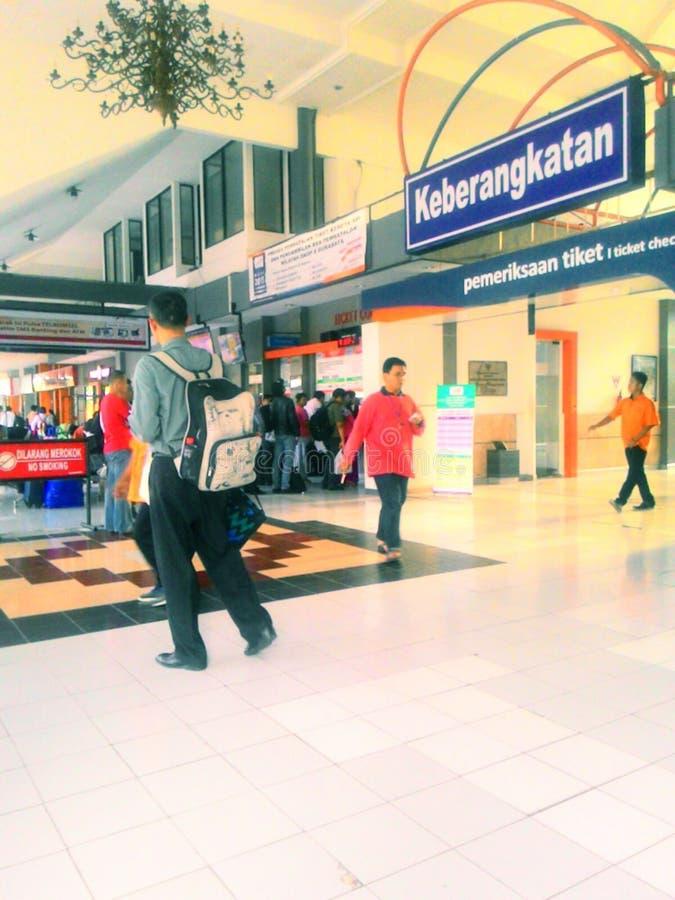 Train station. Stasiun gubeng surabaya royalty free stock image
