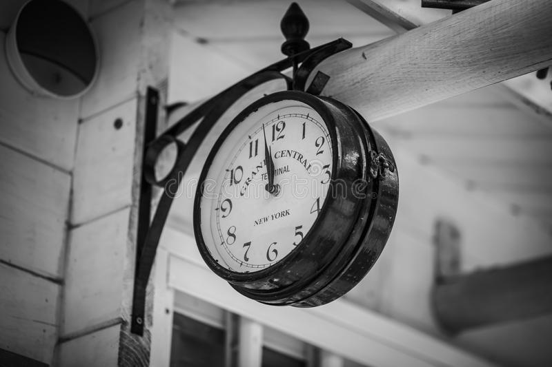 Download train station vintage clock editorial image image of grand round 105909300