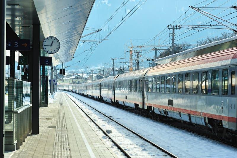Download Train Station In Winter Time. Kitzbuhel Austria Editorial Stock Image - Image: 23307694