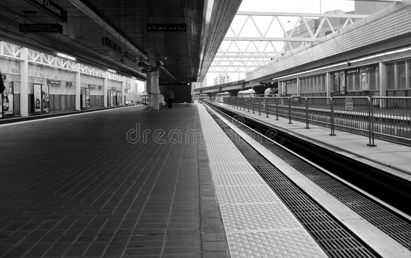 Download Train Stop stock photo. Image of rider, open, pillars - 7098432