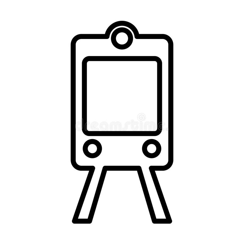 Train subway line icon. Outline vector sign. Logo illustration. royalty free illustration