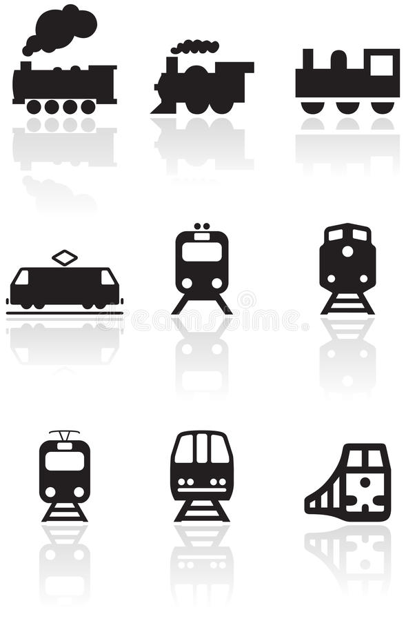 Free Train Symbol Vector Illustration Set. Royalty Free Stock Image - 16641646