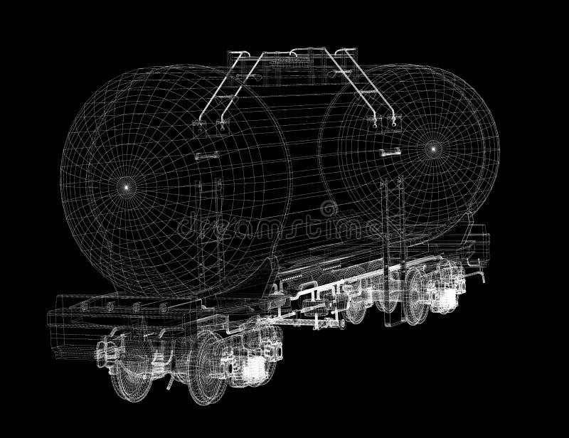 Train tanks stock illustration