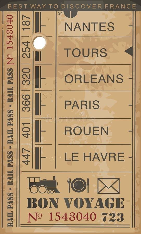 Train ticket vector illustration