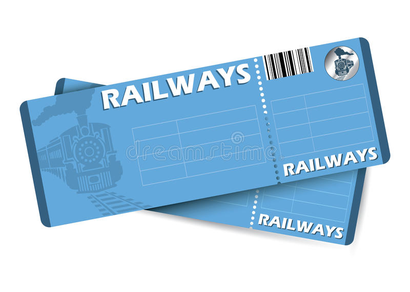Train tickets royalty free illustration