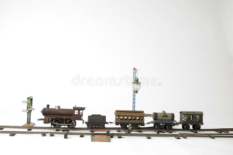 Train to play with. Train for children (in the past) to play with royalty free stock photography