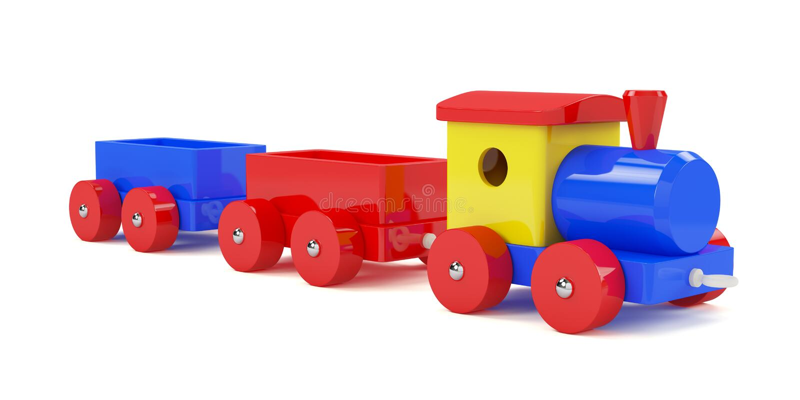 Train toy royalty free illustration