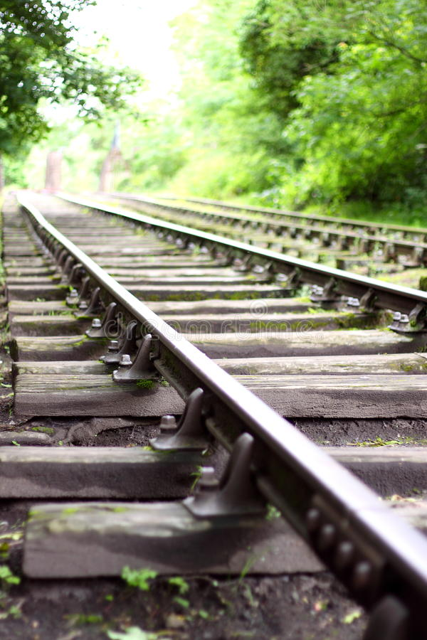 Download Train track B stock photo. Image of train, trees, stone - 25436036