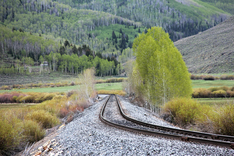 Train Track Through Mountain stock images