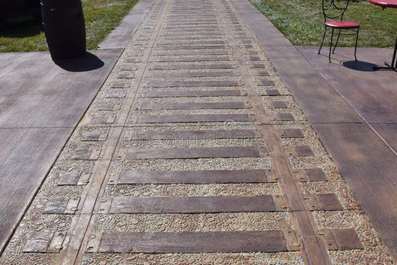 Train track pavement royalty free stock photos