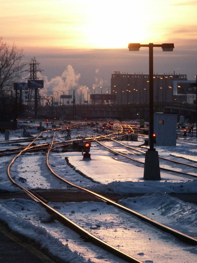 Download Train tracks stock photo. Image of train, snow, power, tower - 1754