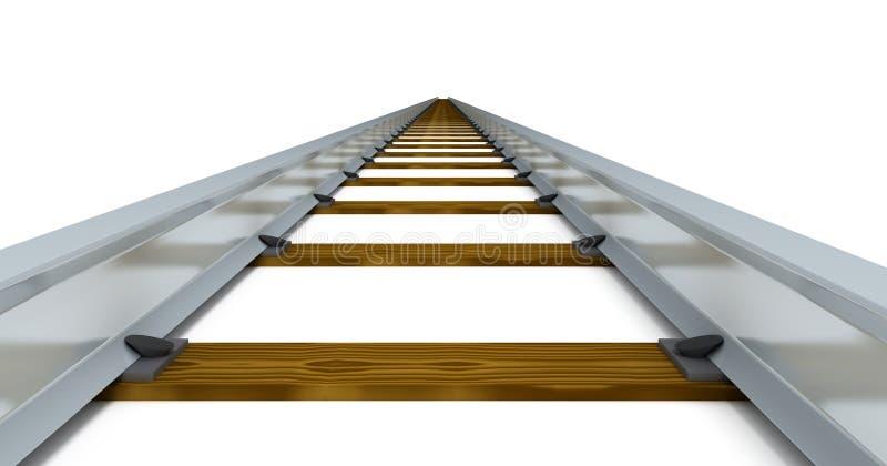 Download Train tracks stock illustration. Illustration of rail - 10641235