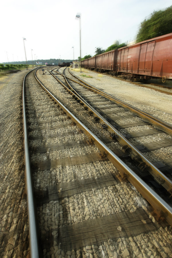 Download Train tracks stock image. Image of metal, blurry, freight - 2478131