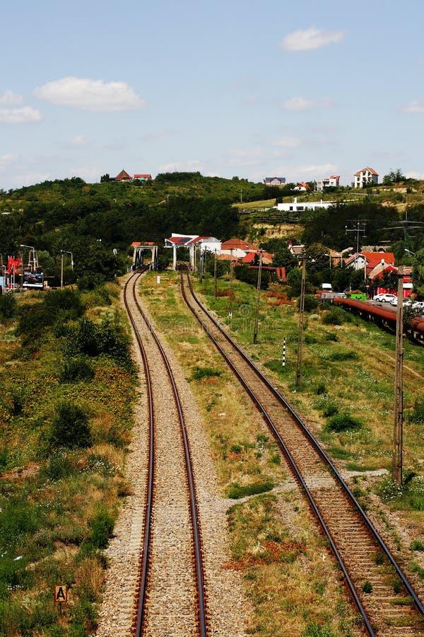 Download Train tracks stock photo. Image of tracks, train, green - 26052286