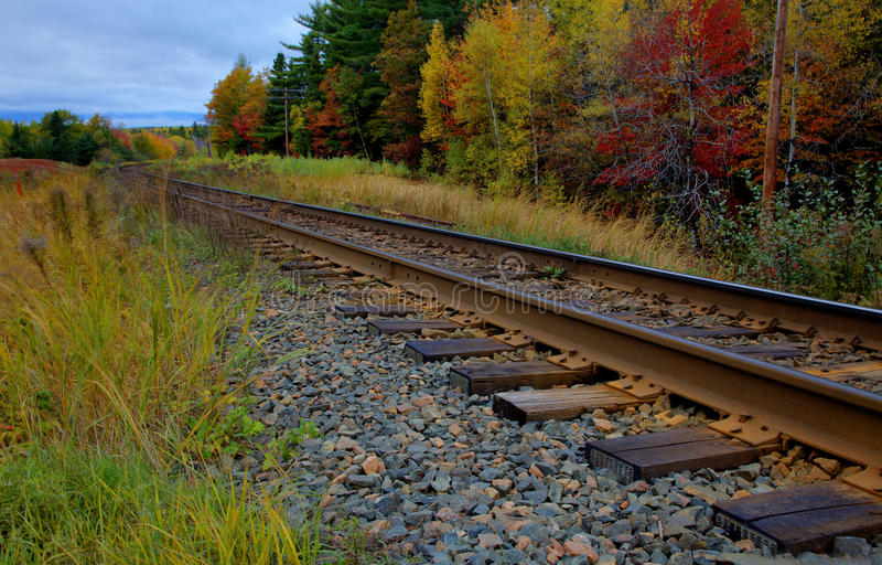 Train Tracks in Fall royalty free stock photos