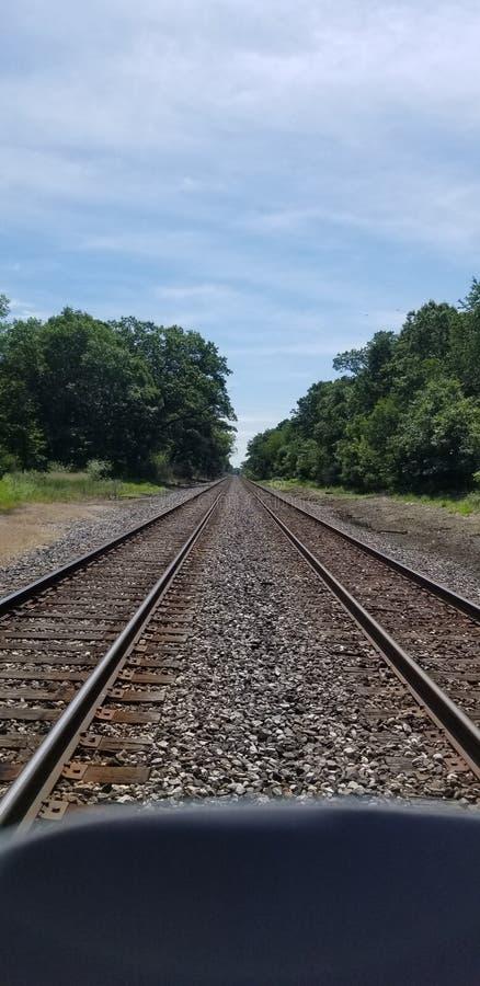 Train Tracks Going Everywhere, yet Nowhere royalty free stock image