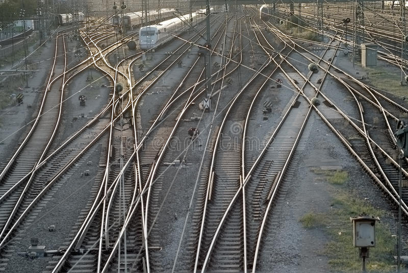 Train Tracks in Munich royalty free stock image