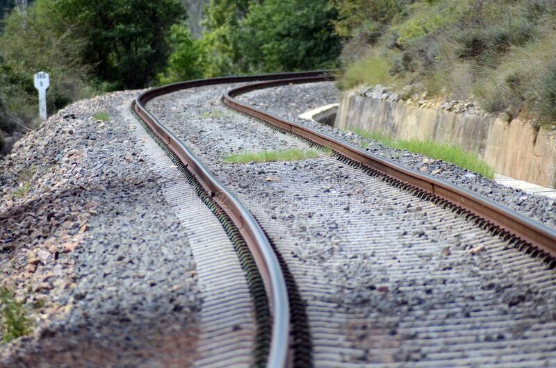 Train Tracks Winding A Mill Free Public Domain Cc0 Image