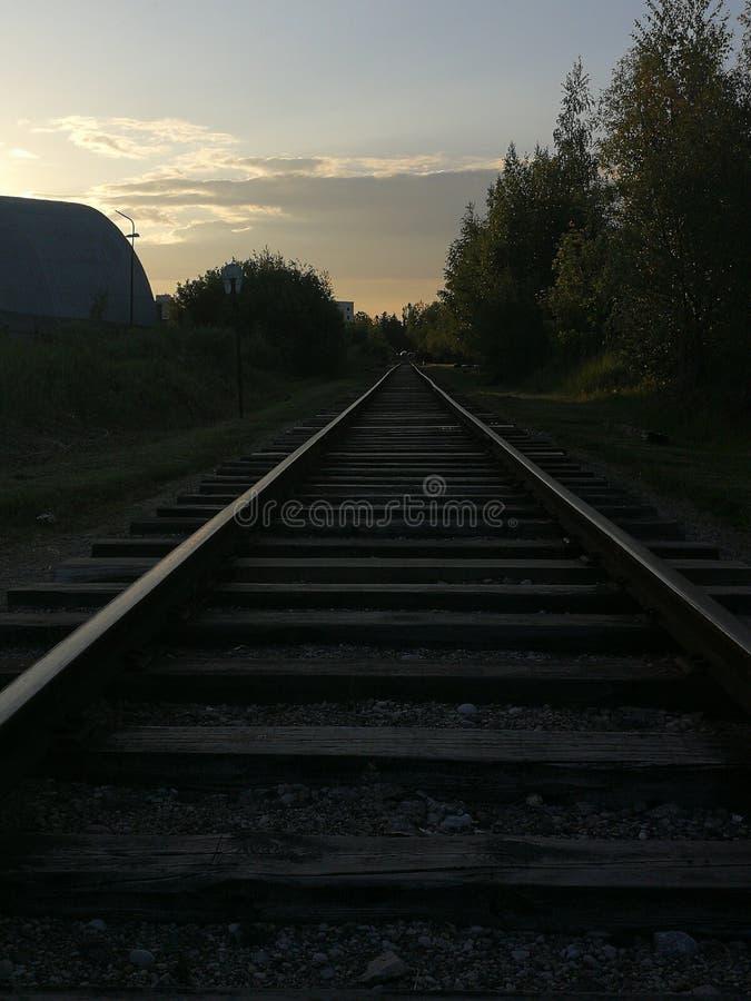 Train trails royalty free stock photo