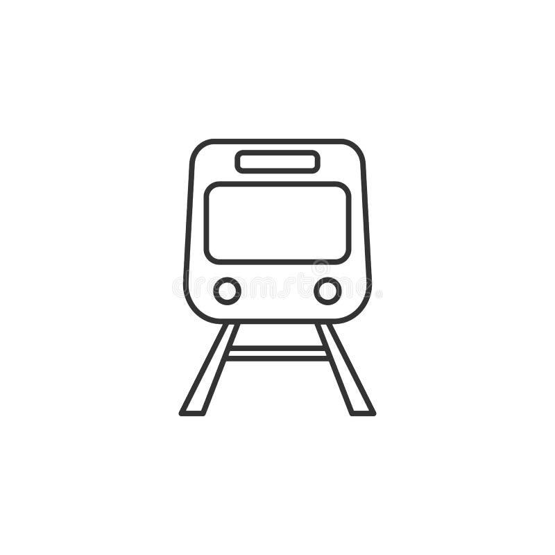 Train, transport line icon. Simple, modern flat vector illustration for mobile app, website or desktop app stock illustration