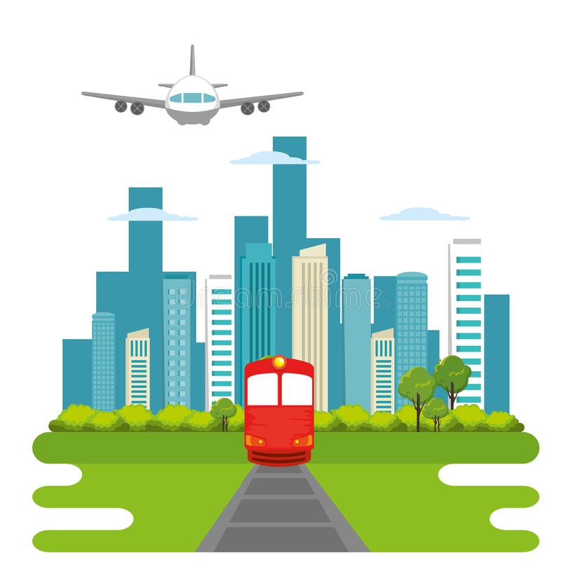 Train transport public icon. Vector illustration design stock illustration