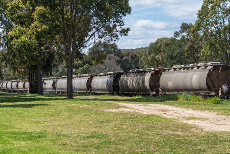 Train transportant le grain photo libre de droits