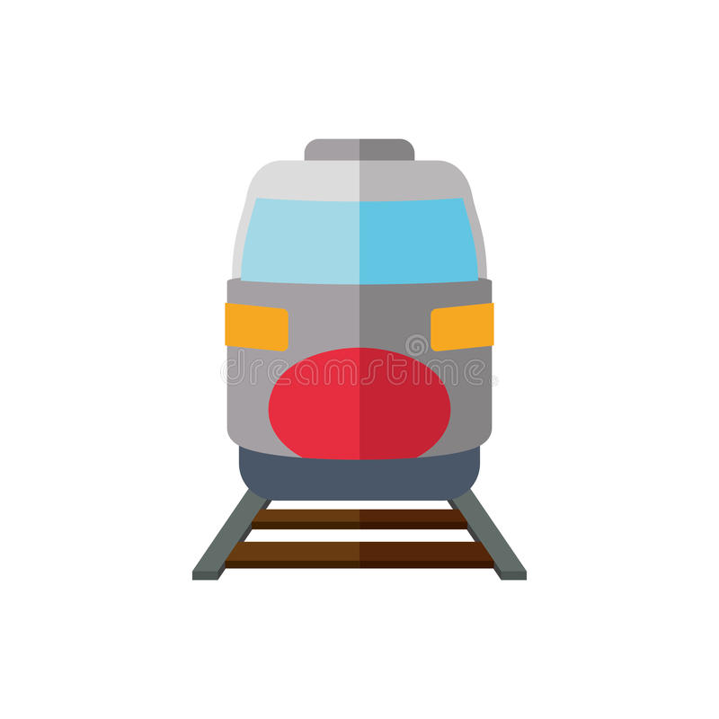 Train transportation delivery travel icon. Vector graphic royalty free illustration
