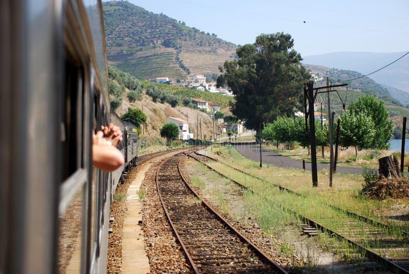 Train trip stock image