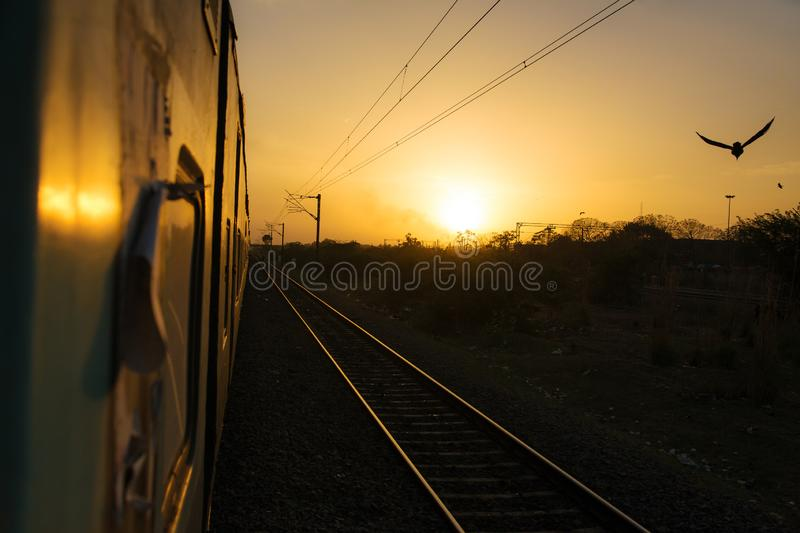 Train trip in India royalty free stock photos