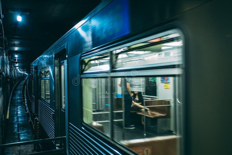 Train on Tunnel stock photos