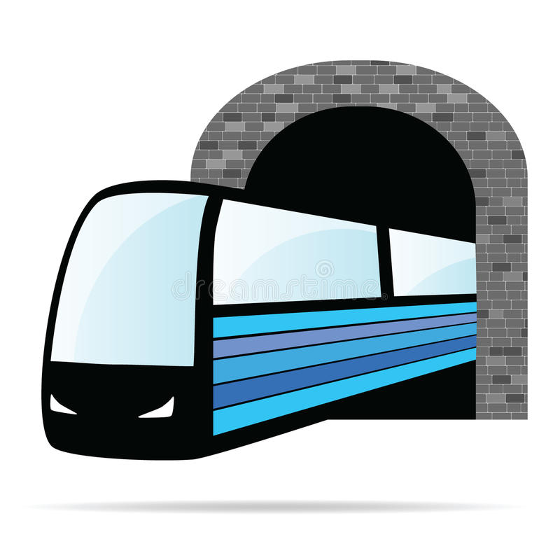 Train from the tunnel illustration royalty free illustration