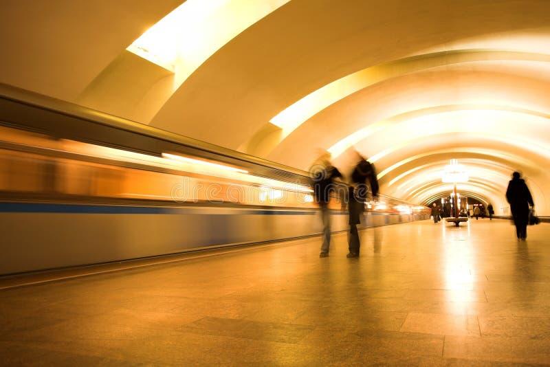 Download Train On Underground Station Stock Image - Image: 7839101
