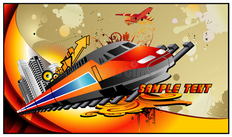 Train vector composition royalty free illustration