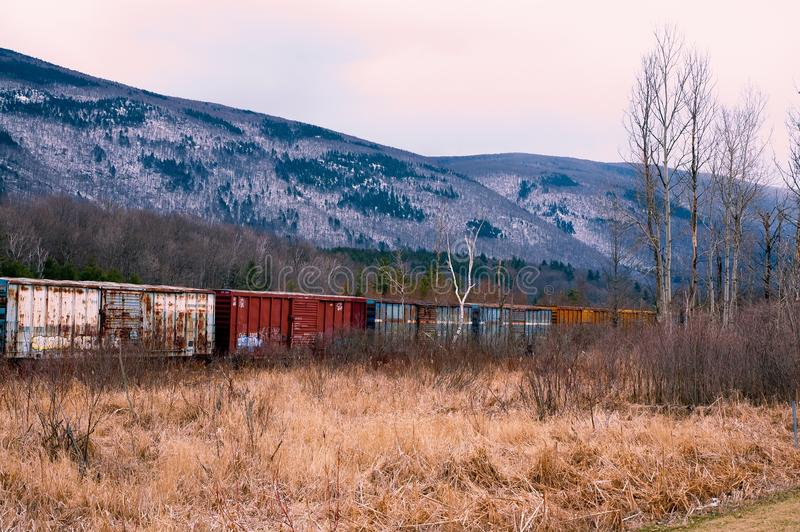 Train in Vermont royalty free stock photos