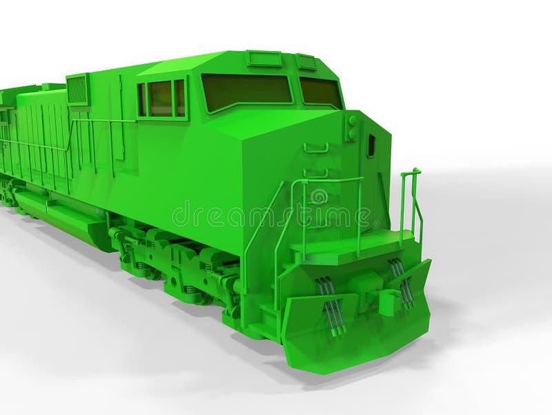 train vert illustration libre de droits