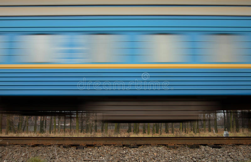 Train wagon with blur effect. Part of train wagon with motion blur effect royalty free stock images