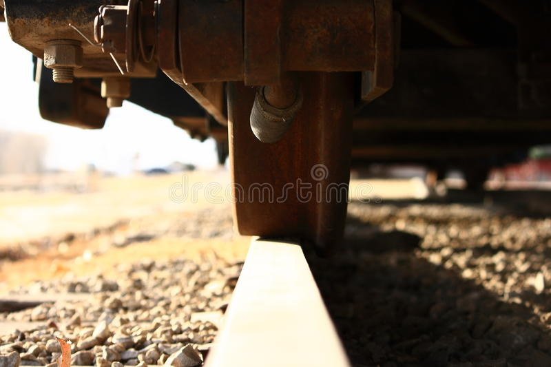 Download Train Wheel On Track Close Up Stock Image - Image: 17594711