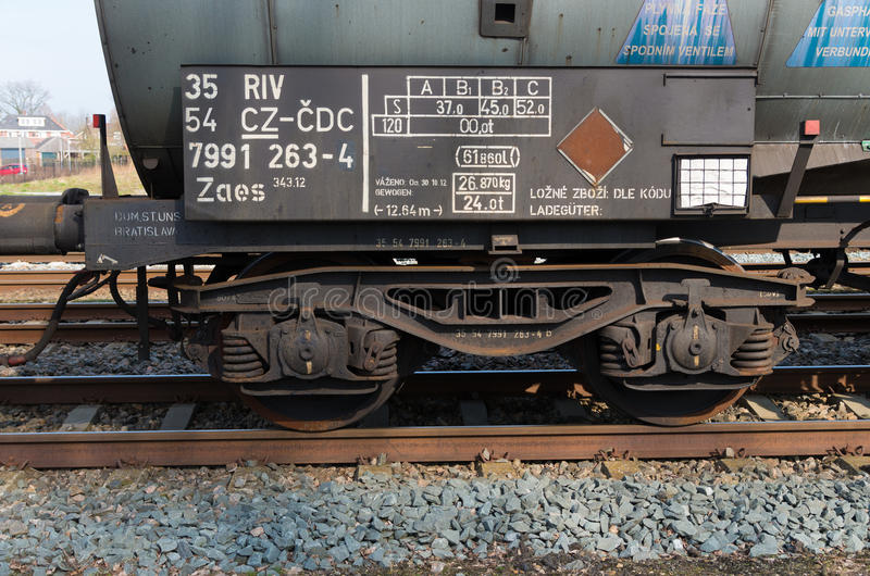 Train wheels stock image
